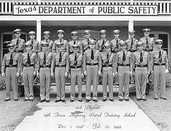 Texas Highway Patrol Training Class, 1949