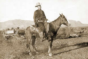 Captain Frank Hamer on Horseback