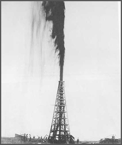 Lucas gusher at Spindletop, January 10, 1901