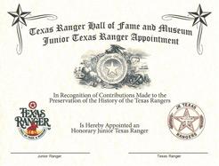 Special Junior Ranger Certificate