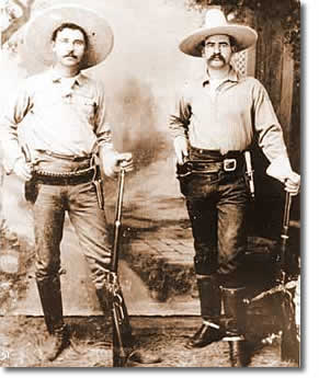 Rangers George Black and J. M. Britton, ca. 1895 ©1999, Texas Ranger Hall of Fame and Museum.