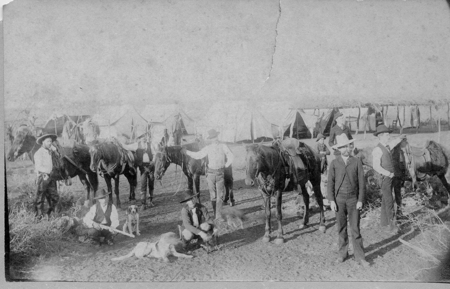 Texas Ranger Camp, 1870s. copyright 2018, Texas Ranger Hall of Fame and Museum