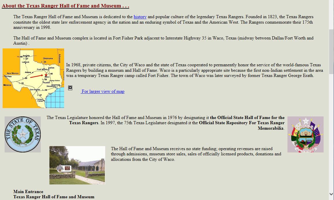 1997 TRHFM Website