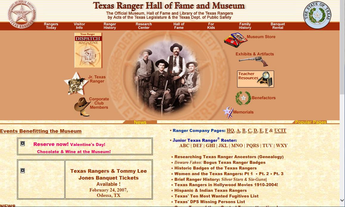 2007 TRHFM Website