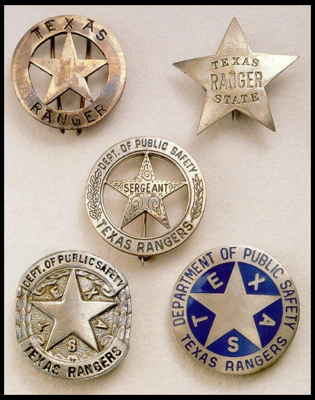 Historic Badges of the Texas Rangers