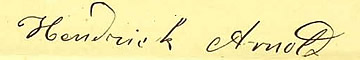 Signature of Hendrick Arnold; Texas, Memorials and Petitions, 1834-1929