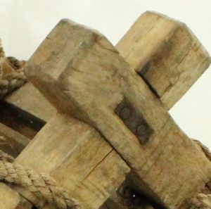 wood x cross shape