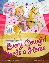 Cover art with blonde girl in pink cowboy outfit on cream pony