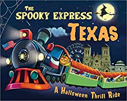 Spooky Express cover art with Texas themed train