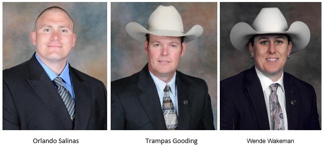 Portraits of three Texas Rangers
